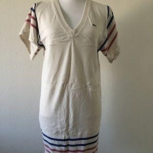 Lacoste Beige Sweater Dress Size M